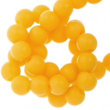 Acryl Kralen Mat (8 mm) Sunrise Yellow (100 stuks)