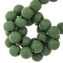 Acryl Kralen Mat (8 mm) Forest Green (100 stuks)