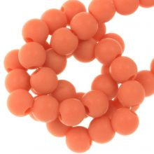 Acryl Kralen Mat (6 mm) Sunset Orange (100 stuks)