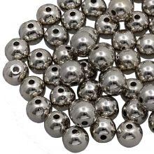 Acryl Metallook Kralen (12 mm) Silver (25 stuks)
