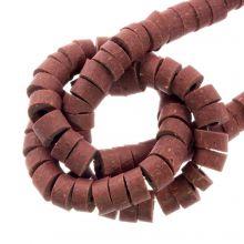 Polymeer Kralen (6 x 3 mm) Pale Rouge (115 Stuks)