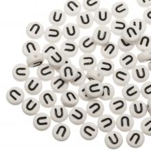 Letterkralen U (7 x 4 mm) White (25 stuks)