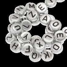 Letterkralen mix (7 x 3.5 mm) Zilver (400 stuks)