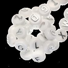 Letterkralen mix (10 x 6 mm) Zilver (170 stuks)