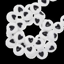Letterkralen Hartjes (7 x 4 mm) White (350 stuks)