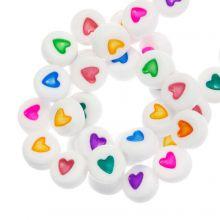 Letterkralen Hartjes (7 x 4 mm) Mix Color (350 stuks)