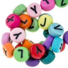 Letterkralen mix (7 x 4 mm) Mix Color (230 stuks)