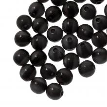 Resin Kralen (6 mm) Black Shine (50 Stuks)