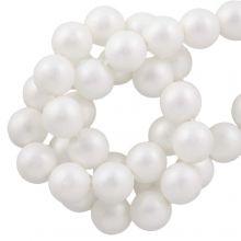 DQ Glasparels (8 mm) White Matt (75 Stuks)