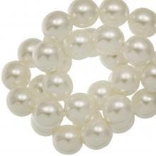 DQ Glasparels (8 mm) Broken White Shine (75 Stuks)