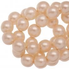DQ Glasparels (8 mm) Tangerine Matt (75 Stuks)
