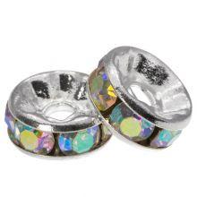 Rhinestone Spacers (8 x 4 mm) Crystal Shine (10 Stuks)