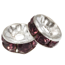 Rhinestone Spacers (4 x 2 mm) Rose (10 Stuks)