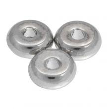 Metalen Kralen (6 mm) Antiek Zilver (40 Stuks)