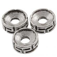 Metalen Kralen (7.5 x 3 mm) Antiek Zilver (25 Stuks)