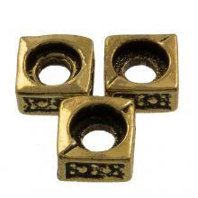 Metalen Kralen (5 x 5 mm) Antiek Goud (25 Stuks)