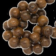 houten kralen natuurlijke look robles bruine kleur