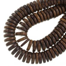 robles klelur donker bruine houten kralen 15 mm