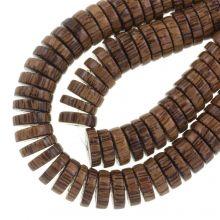 natuurlijk hout kralen bruin 15 mm