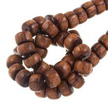 natuurlijke houten kralen tropische look bayong 11 mm