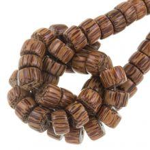 houten kralen palmwood kleur natuurlijk patroon  11 mm