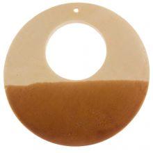 Houten Hanger Cirkel (49 mm) 5 Stuks