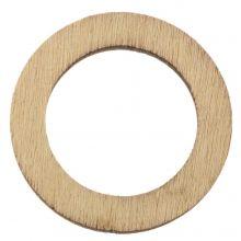 Houten Hanger Cirkel (30 mm) 24 Stuks
