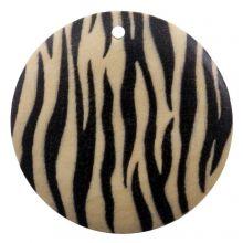 Houten Hanger Zebra Rond (30 mm) 10 Stuks