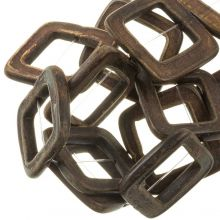 Bone Kralen (32 mm Gat 16 mm) Brown (13 stuks)