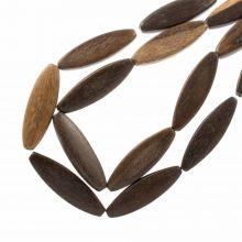 ovale hout kralen natuurlijke kleur