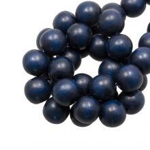 Houten Kralen Intense Look (16 mm) Navy Blue (25 stuks)