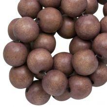 houten kralen hazelnoot bruin rond 10 mm
