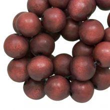 houten kralen ronde vorm rood bruine kleur