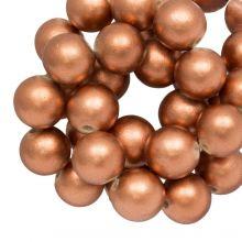 Houten Kralen Metallic Look (20 mm) Copper (20 stuks)