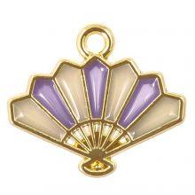 Bedel Enamel Waaier (17 x 15  x 1.5 mm) Purple (5 Stuks)