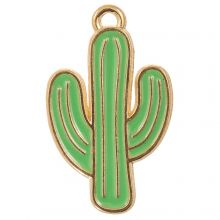 Bedel Enamel Cactus (26 x 15 x 1.5 mm) Green (5 Stuks)