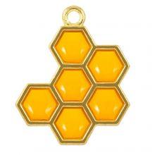 Hanger Enamel Honinggraat (21 x 17 x 1.5 mm) Golden Yellow (5 Stuks)