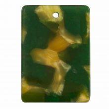Bedel Resin (22 x 15 mm) Dark Green (5 Stuks)