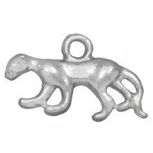 Bedel Panter (11 x 3,5 mm) Antiek Zilver (25 Stuks)