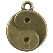 Bedel Ying Yang (17 x 13 mm) Brons (25 Stuks)