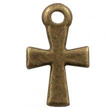 Bedel Kruis (12 x 7 mm) Brons (25 Stuks)