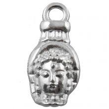 Bedel Buddha (18 x 8 mm) Antiek Zilver (25 Stuks)