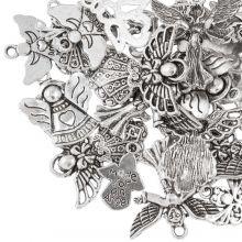 Bedelmix Engelen (diverse maten) Antiek Zilver (30 Stuks)