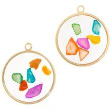 Hanger Mix Met Chips (22 x 20 mm) Mix Color (5 stuks)