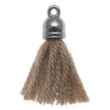 Kwastjes (20 mm) Cedar / Zilver (5 Stuks)