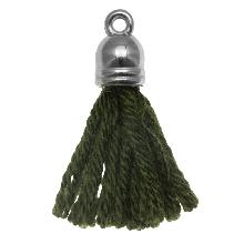 Kwastjes (20 mm) Seaweed / Zilver (5 Stuks)