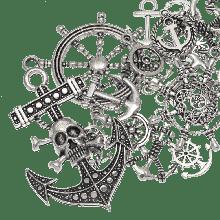 Bedelmix Anchor (diverse maten) Antiek Zilver (60 Stuks)