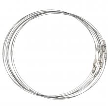 Halsketting Schroefsluiting (10 Stuks) 50 cm (Zilver)