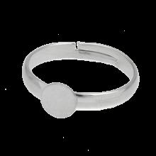 Verstelbare Ring (Tray 6 mm) Antiek Zilver (10 Stuks)
