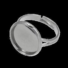 Verstelbare Ring (Voor 14 mm Cabochon) Antiek Zilver (5 Stuks)